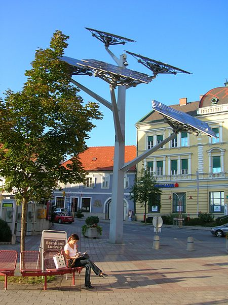 energy solar-tree city-of-gleisdorf